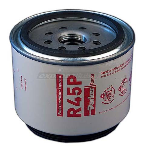 racor r45p spin on filter - 30 micron red